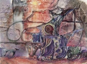 """Bozzetti scenografici per il """"Sogno"""" di Strimberg, 1980"""